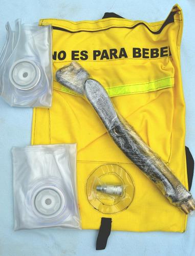 mochila colapsable contra incendios