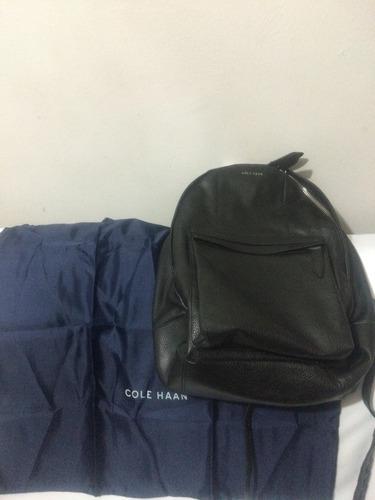 mochila cole haan back pack piel... única en mercado libre