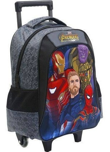 mochila com rodas 16 avengers doomed - 7500