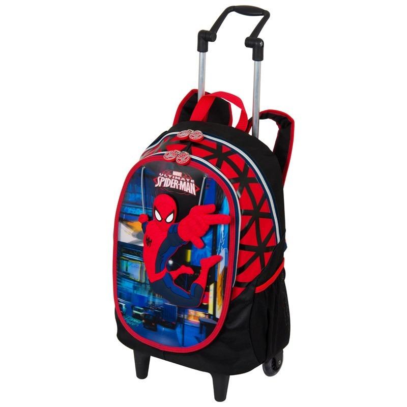 083d11010 Mochila Com Rodas Grande Spider Man- Sestini - R$ 237,90 em Mercado ...