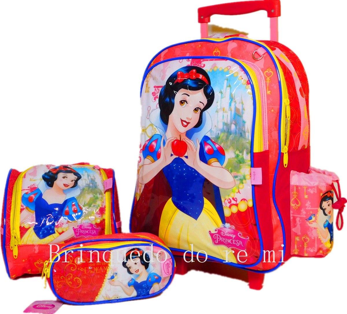 b01300757 mochila com rodinhas princesas disney - branca de neve. Carregando zoom.