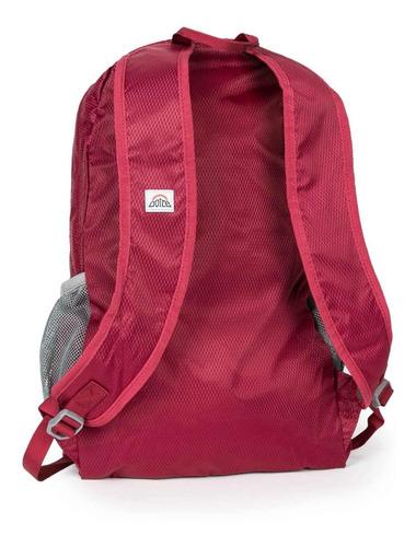 mochila compactable bernice 25 rojo doite
