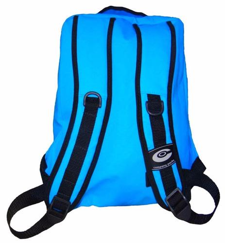 mochila company azul turquesa