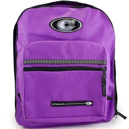 mochila company original c/ alça violeta + estojo violeta
