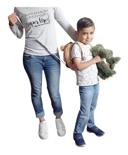 mochila con arnés de seguridad para niños y niñas león