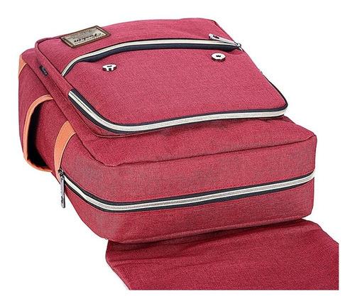 mochila con carga usb de diseño cierre y solapa