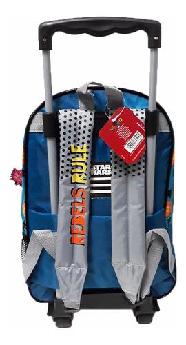 mochila con carrito star wars 17p rebel 45x30cm 3bols 2cierr