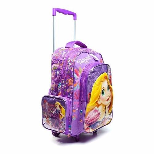 mochila con carro 16  princesas (5754)