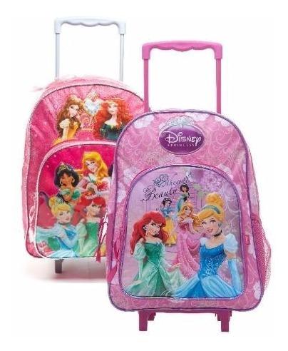 mochila con carro 16  princesas (8642)
