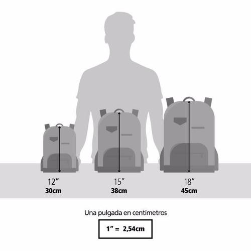 mochila con carro underground camuflada 18'' (8086)