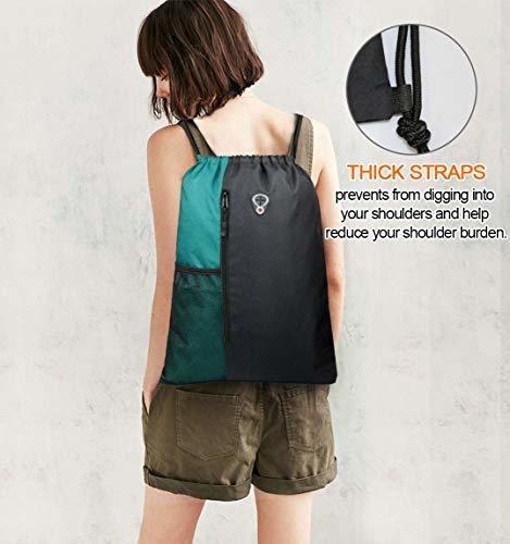 mochila con cordon bolsa de gimnasia deportiva para mujeres