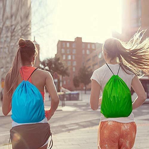 mochila con cordon de ajuste 24 unidades para gimnasio viaje