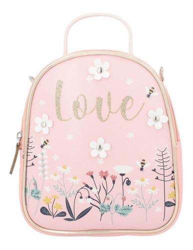 mochila con estampado floral de niñas (mod 1055982)