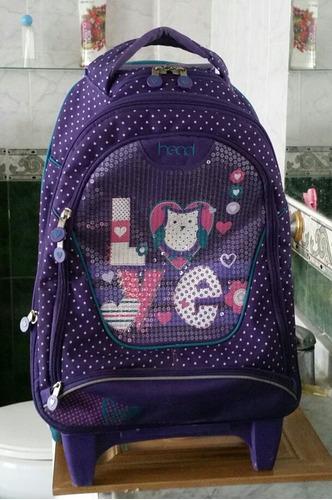 mochila con ruedas head niñas 34 lt