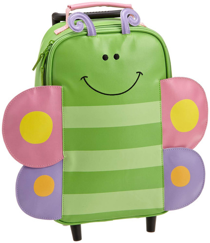 mochila con ruedas stephen joseph, mariposa