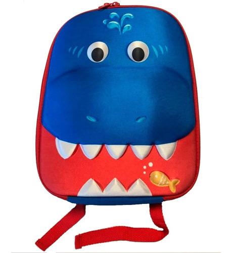 mochila conservadora para niños tiburón infanti