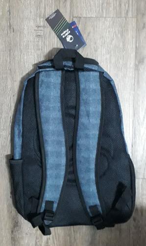 mochila costas cobra d´agua marinho/preto cdm189002 - original - santino