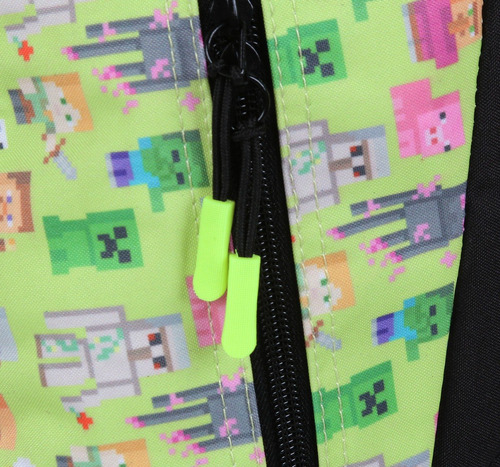 mochila costas juvenil minecraft verde 11491