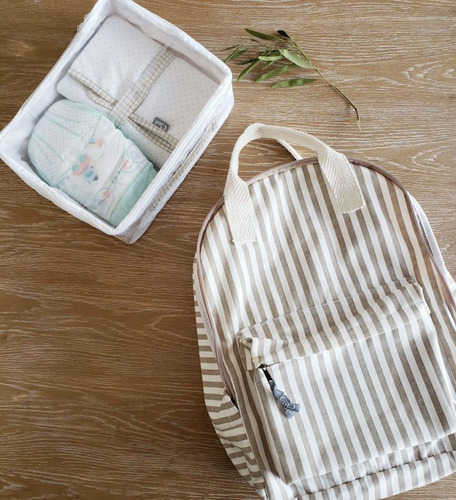 mochila cotton jean stripes - cloé