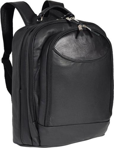 mochila couro pequenas viagens notebook até 15,6 + brinde