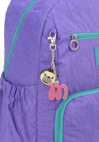 mochila crinkle maisa com chaveiro/ para notebook -48639