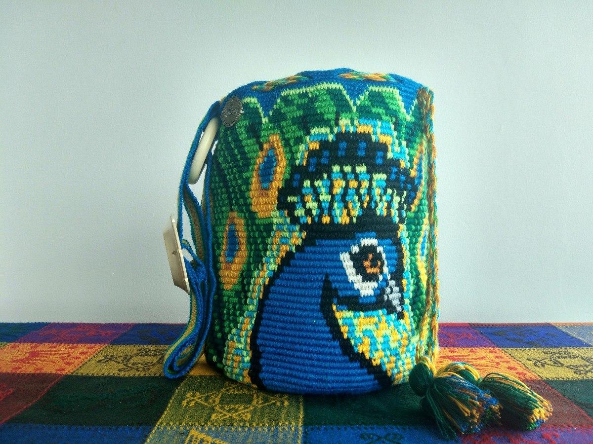 Mochila Crochet Pavo Real A | Grande | Mujer | Mi Artesano ...
