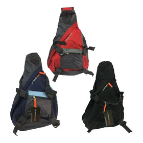 Mochila Cruzada Triangular 4 Broches Trendbags Original