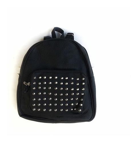 mochila cuero pu mujer urbana con tachas calidad premium