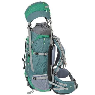 mochila curtlo mountaineer 60+15 75 l verde