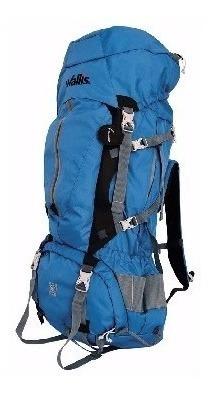 mochila de alpinismo montaña azul/gris 90 litros wallis