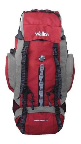 mochila de alpinismo wallis roja 60 l  ¡envío gratis!
