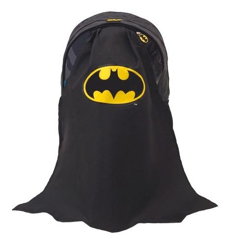 mochila de batman escolar con capa 45 cm original 17