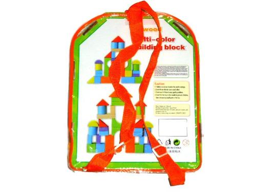 mochila de bloques de madera colores 2 modelos
