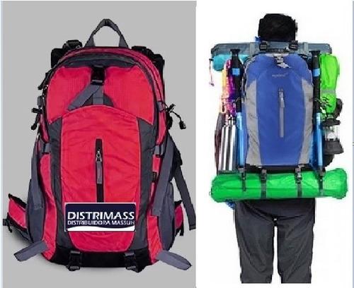 mochila de camping con almacenamiento inteligente impermeabl