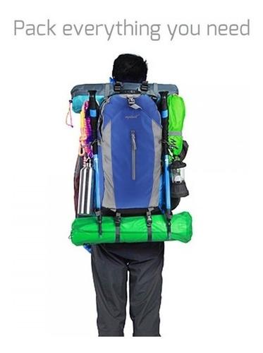 mochila de camping impermiable montañismo reforzada 50litros