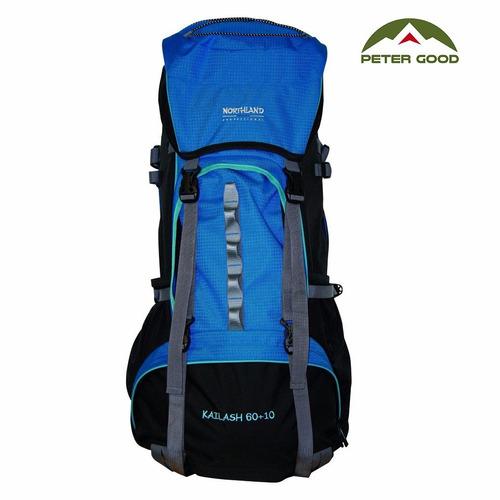 mochila de camping kailash 60 + 10 northland mochilero