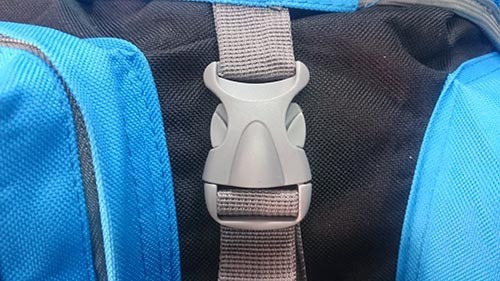 mochila de camping trekking viaje mochileo 85lt celeste