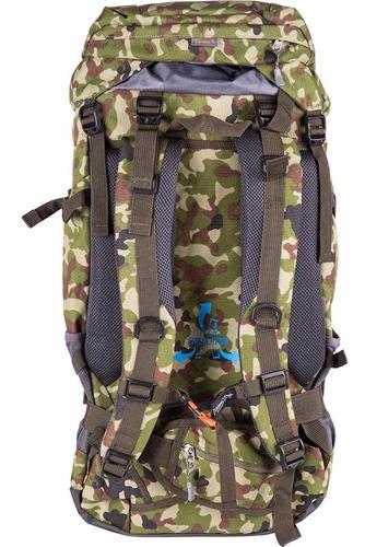 mochila de camping trilha ozark 55 litros camuflada exército