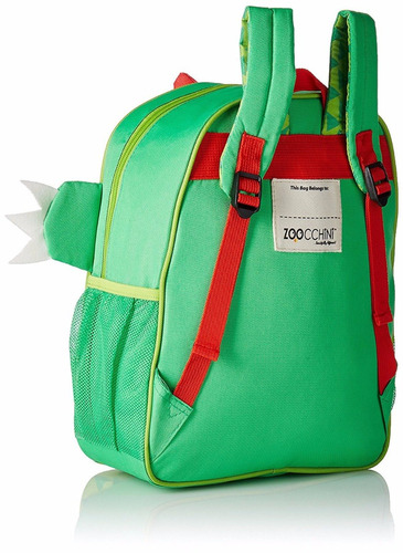 mochila de cocodrilo verde zoocchini *envio gratis