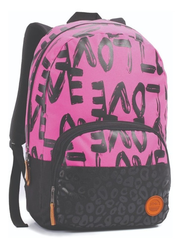 mochila de costa love feminina estilo capricho se14051 cores