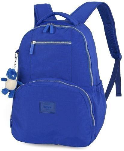 4f8bc1ebd Mochila De Costas Feminina Up4you -tipo Kipling - Cor Azul - R$ 139 ...