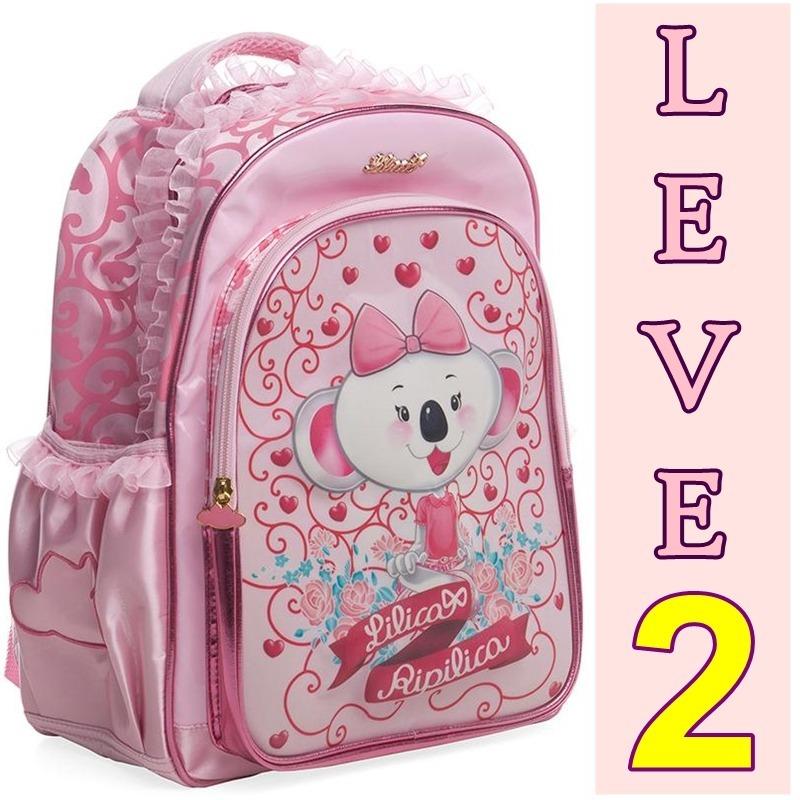 2d735392a mochila de costas infantil lilica ripilica flores rosa. Carregando zoom.