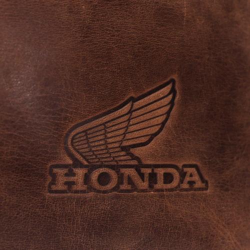 mochila de couro moto honda - crazy horse café - original