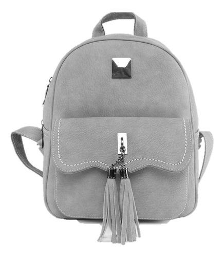 mochila de cuero, color sólido
