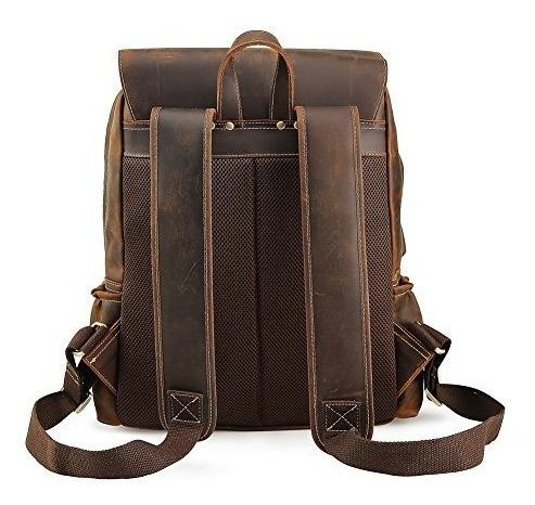 mochila de cuero de la mochila de cuero de los hombres de la
