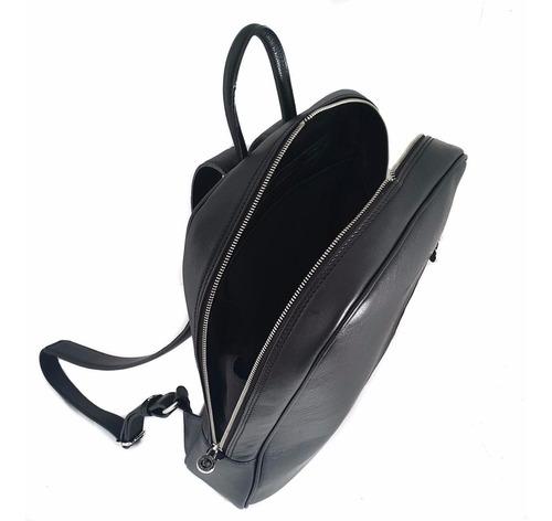 mochila de cuero hombre mujer porta notebook 15.6 viaje modelo 1172