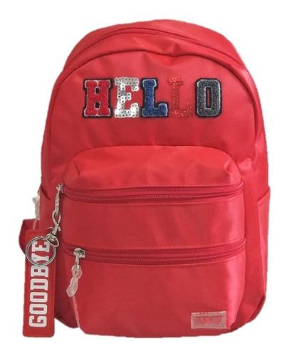 mochila de espalda 18´´ escolar urbana original 47 street