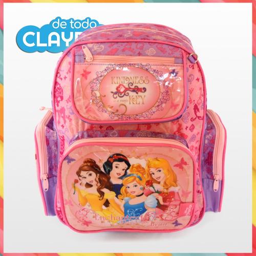 mochila de espalda disney princesas 40x30x17 cms