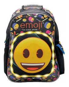 nuevo producto 7a563 89488 Mochila De Espalda Emoji C/luz Tt072 Licencia Original 18''