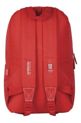 mochila de fútbol estudiantes de la plata blanca/roja